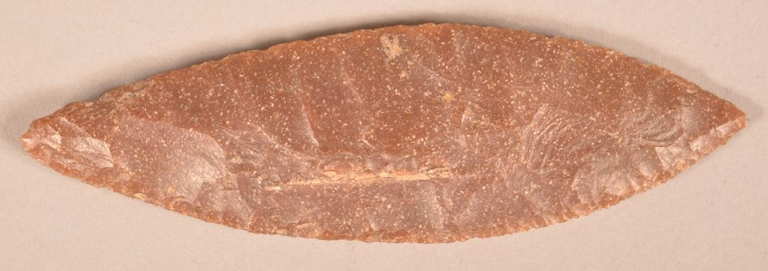 Fine Precolombian, Bi-Pointed Flint Blade From Central