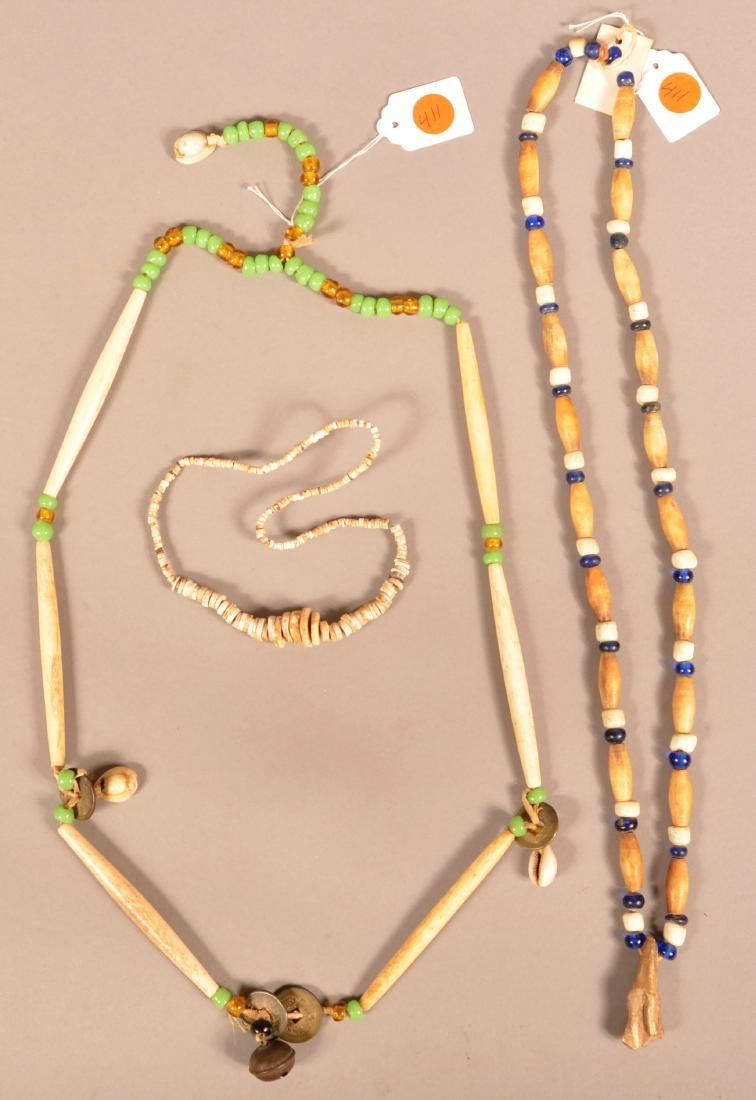 Group Of Native American Neckalces - Pre-Contact Shell