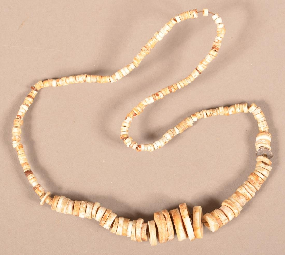 Group Of Native American Neckalces - Pre-Contact Shell - 3
