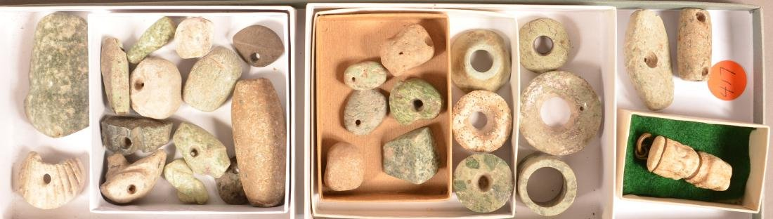 29 Ancient Meso American Stone Beads and Ornaments. 6