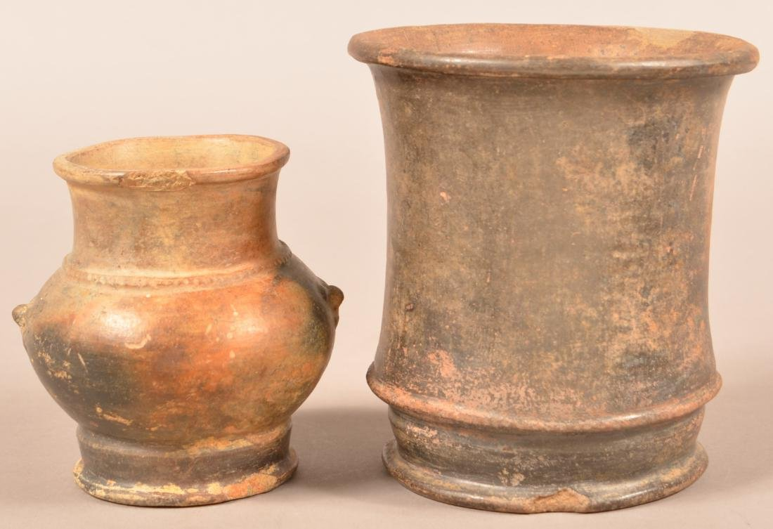 2 Meso American Pottery Vessels - Larger One w/ Minor - 2