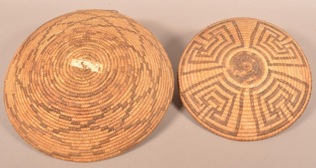 "2 Antique S.W. Coiled Baskets, 13 3/4"" Dia., 11 1/2"" - 2"