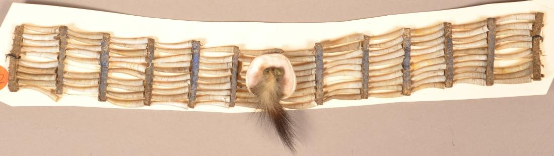 Antique Plains Indian Dentalia Shell Choker Necklace On