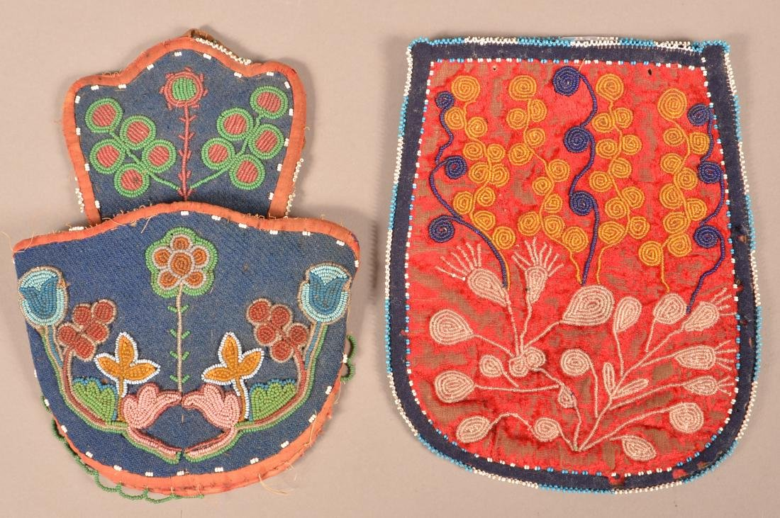 2 Antiques Great Lakes Region Beaded items-Chippewa