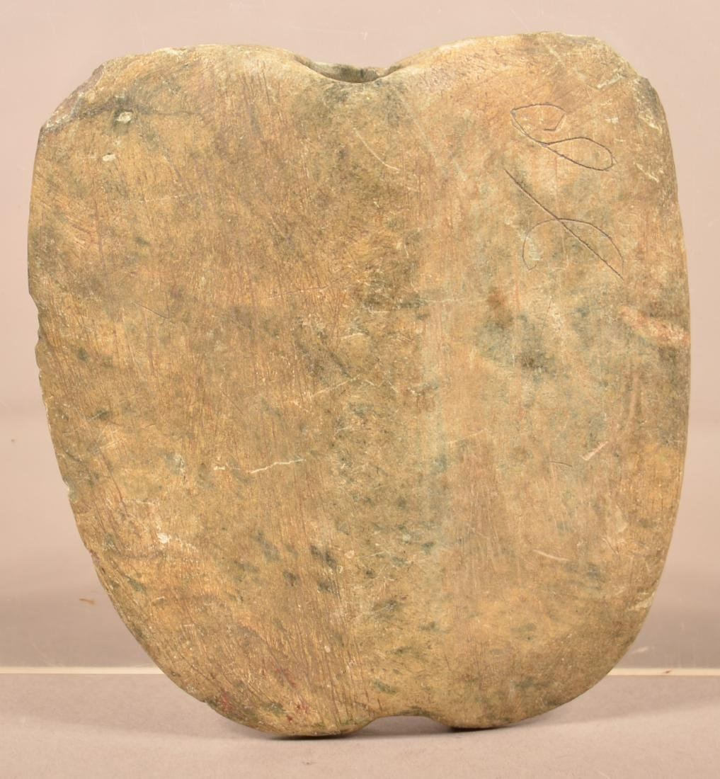"""Prehistoric South Central PA """"Shield Form"""" Bannerstone"""