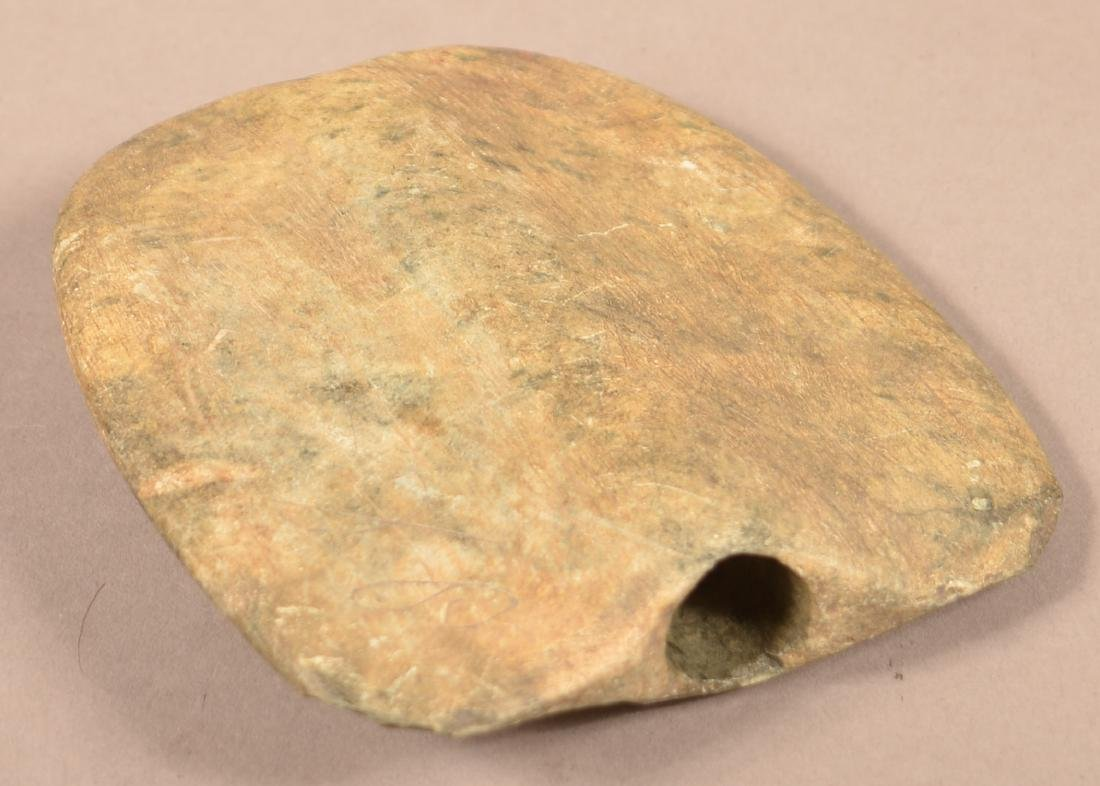 """Prehistoric South Central PA """"Shield Form"""" Bannerstone - 3"""