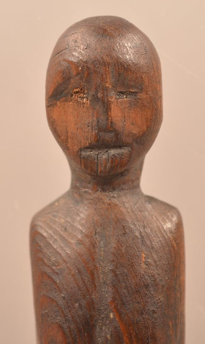 Antique Inuit Carved Wood Figurine Depicting a Female - - 2