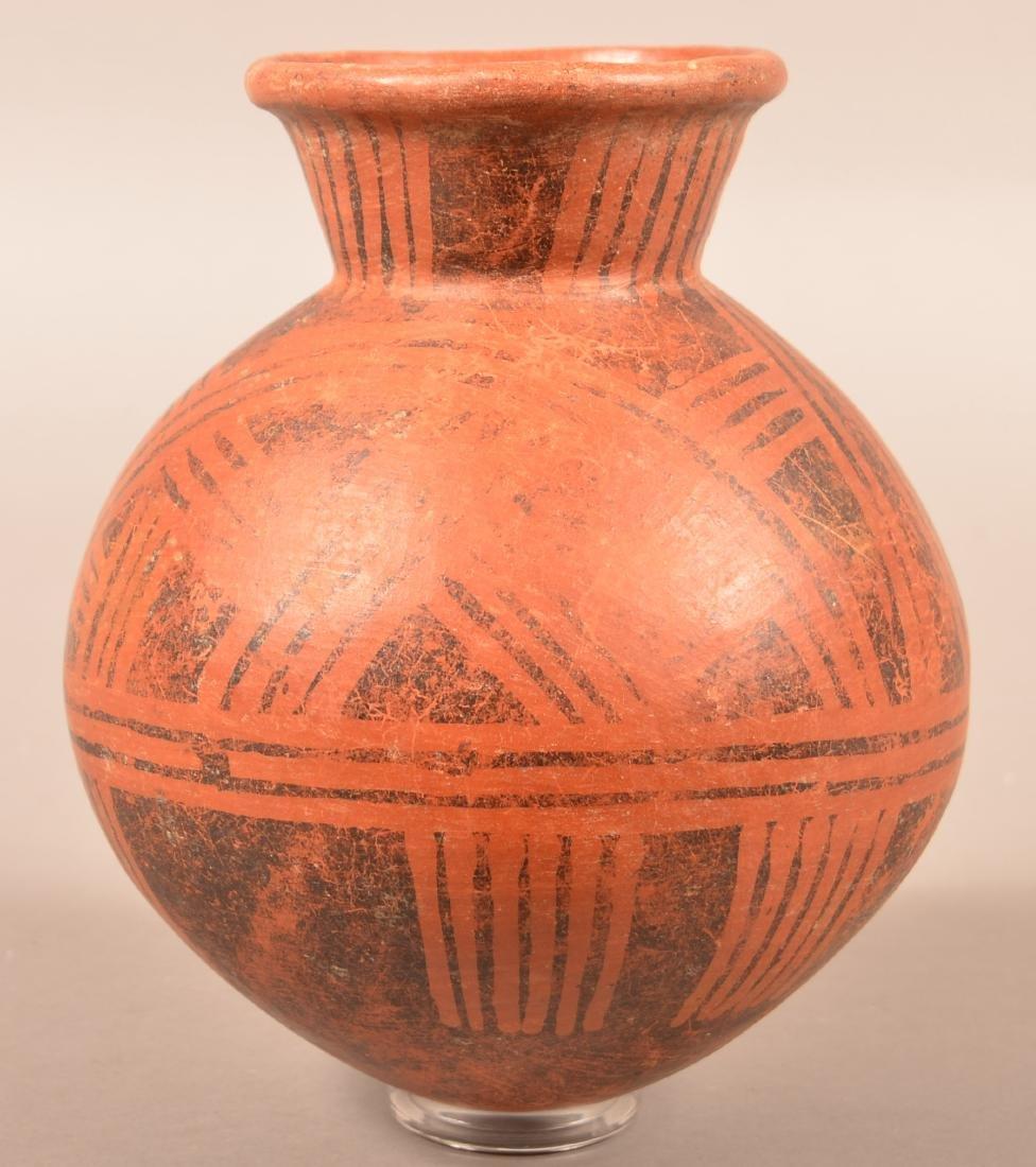 """Precolumbian, Meso American Pottery Vessel 9"""" x 8"""" w/"""