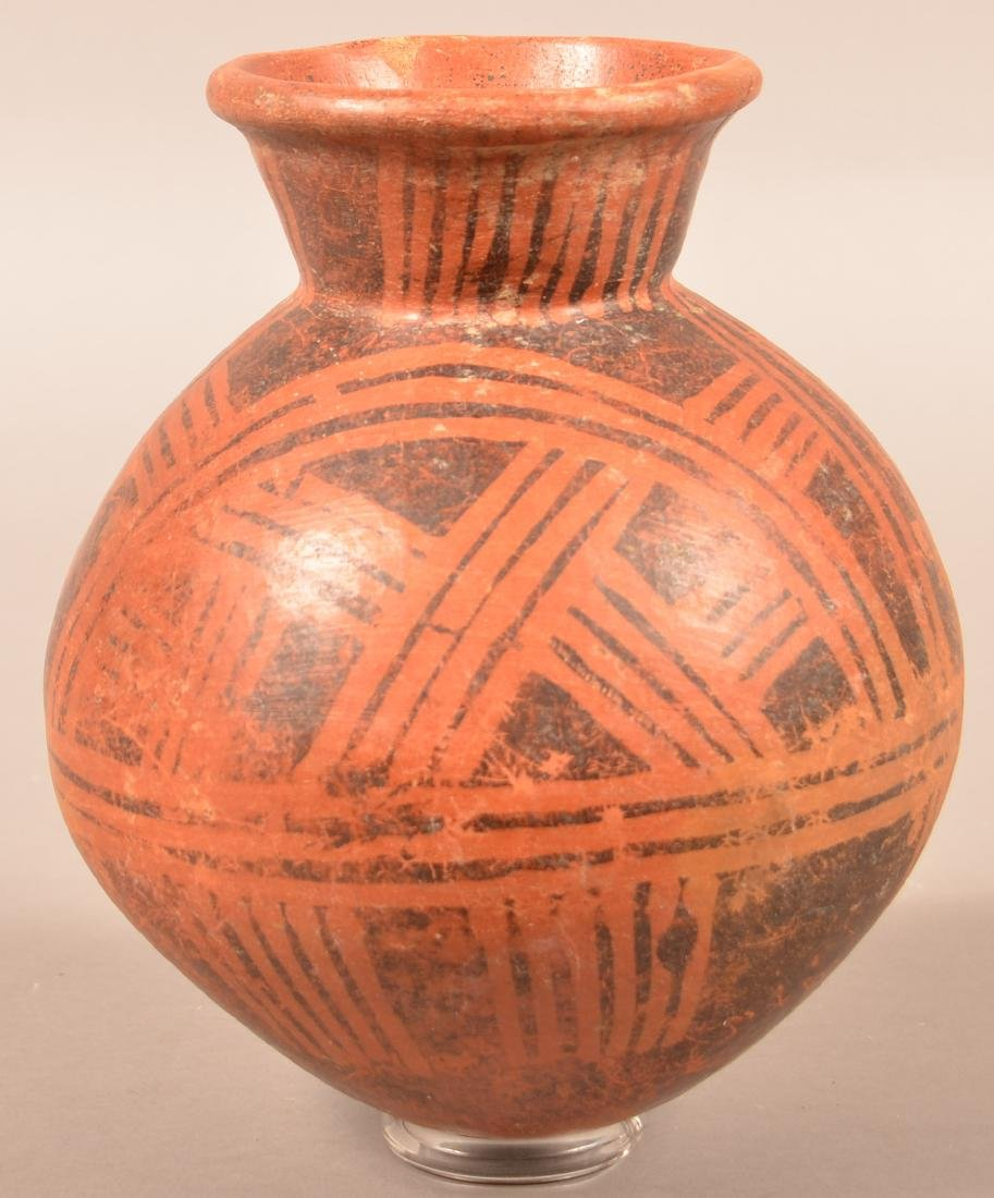 """Precolumbian, Meso American Pottery Vessel 9"""" x 8"""" w/ - 2"""