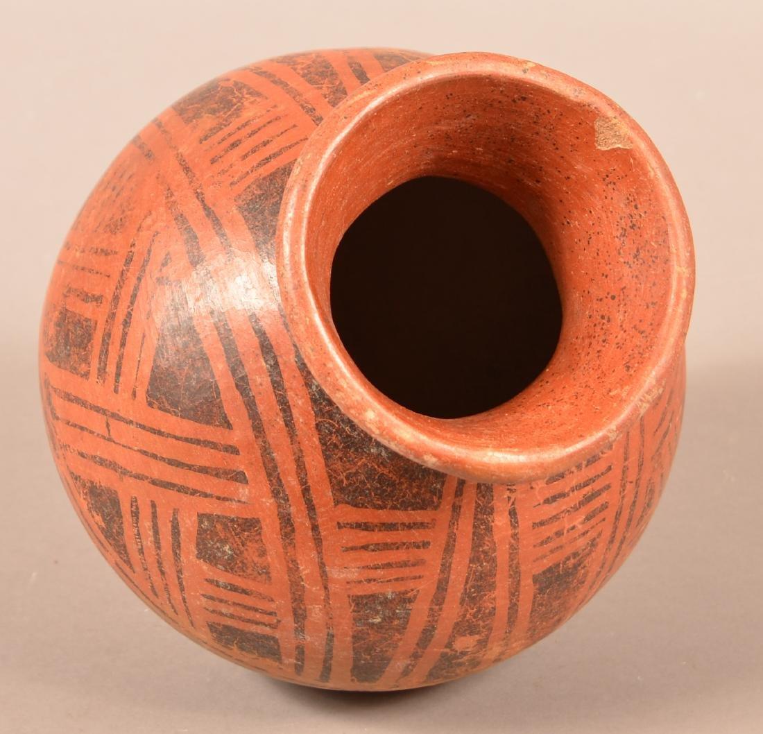 """Precolumbian, Meso American Pottery Vessel 9"""" x 8"""" w/ - 3"""