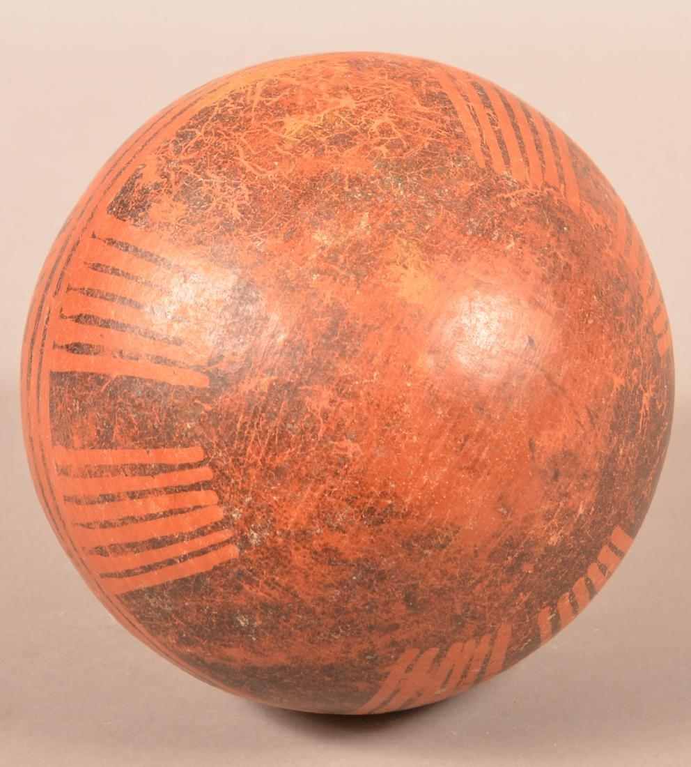 """Precolumbian, Meso American Pottery Vessel 9"""" x 8"""" w/ - 4"""