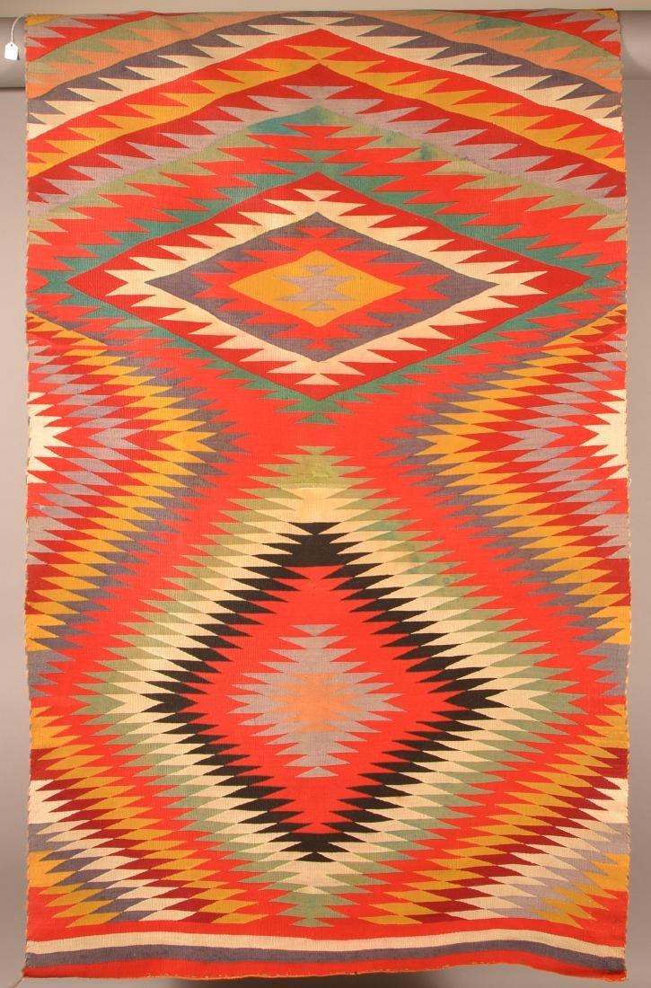 "An Americana Navaho ""Germantown"" Textile 64"" x 38"""