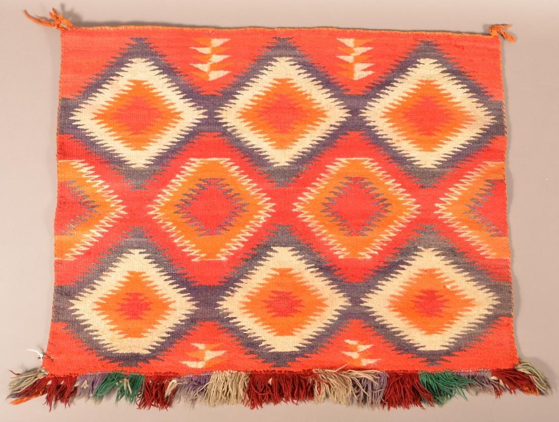 "Vintage Navaho Saddle Blanket 32"" x 26"""