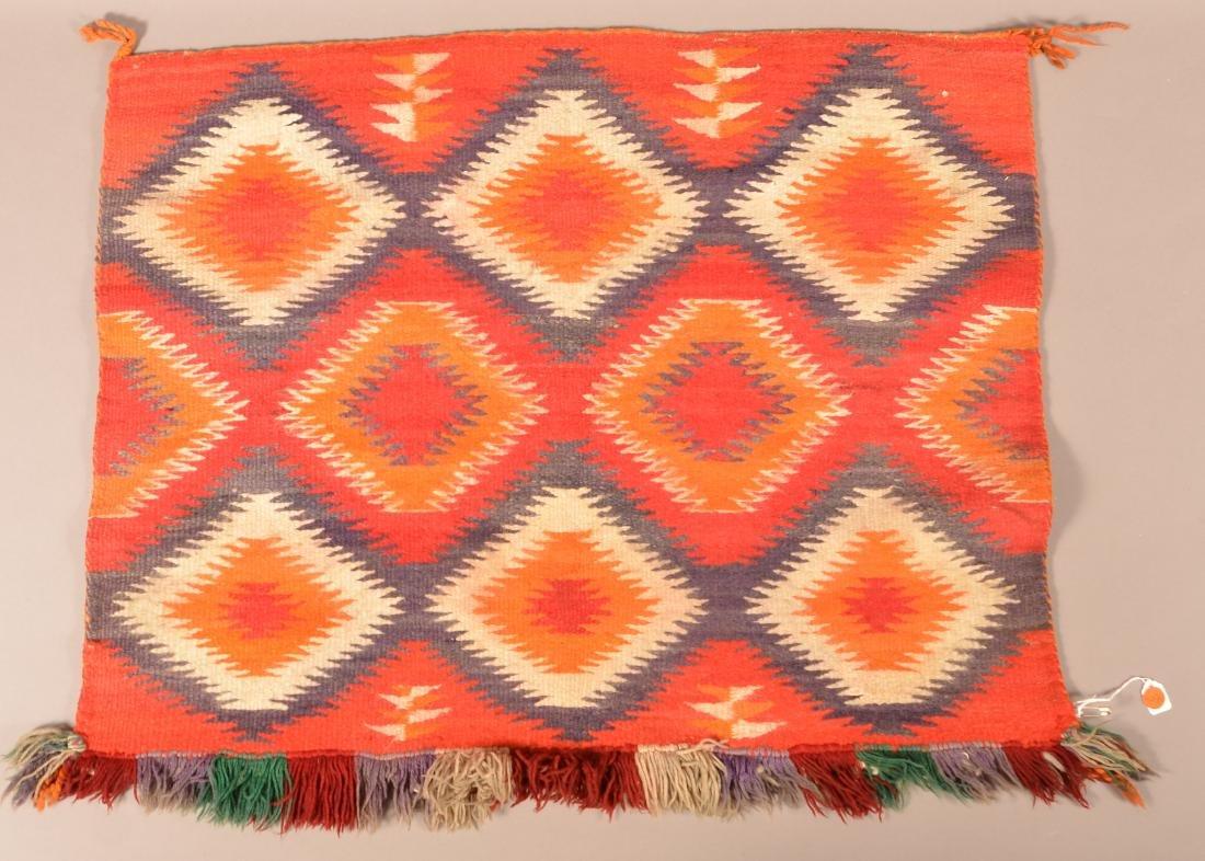 "Vintage Navaho Saddle Blanket 32"" x 26"" - 2"