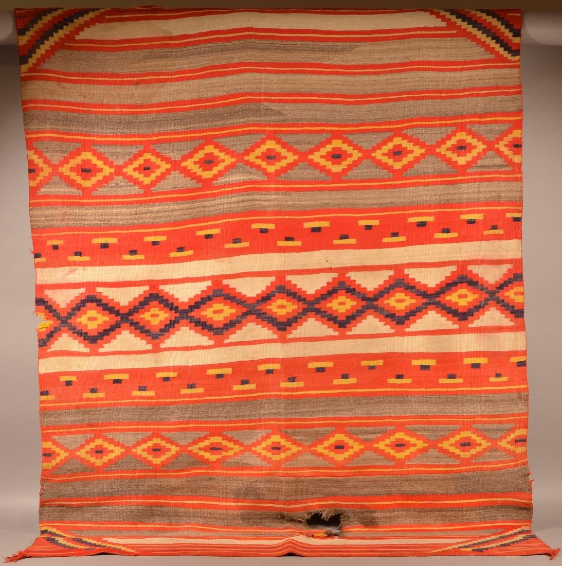 "Large Size Transitional Era Navaho Rig, 82"" x 62"". This"