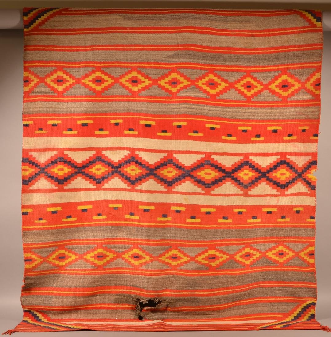 "Large Size Transitional Era Navaho Rig, 82"" x 62"". This - 4"