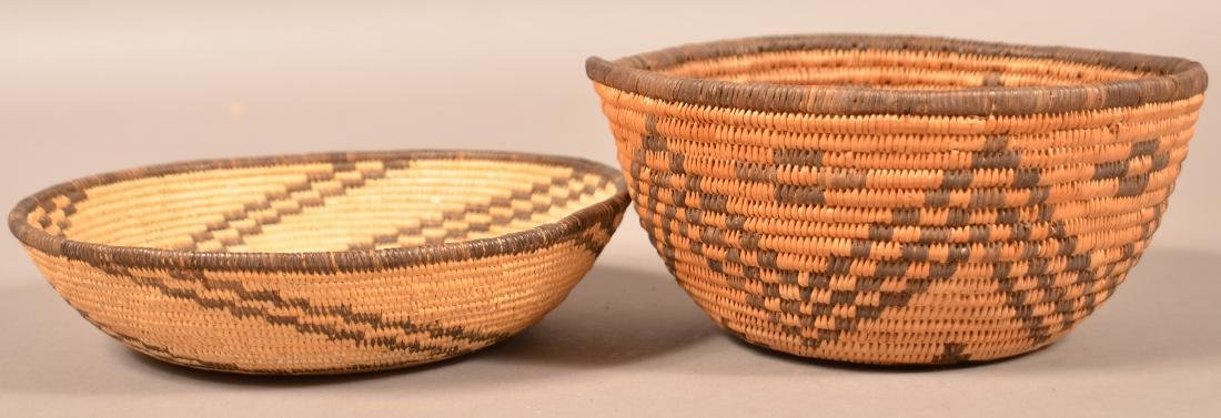 "2 Apache Baskets 7 3/4"" x 4"", 8 1/4"" Dia. - 2"