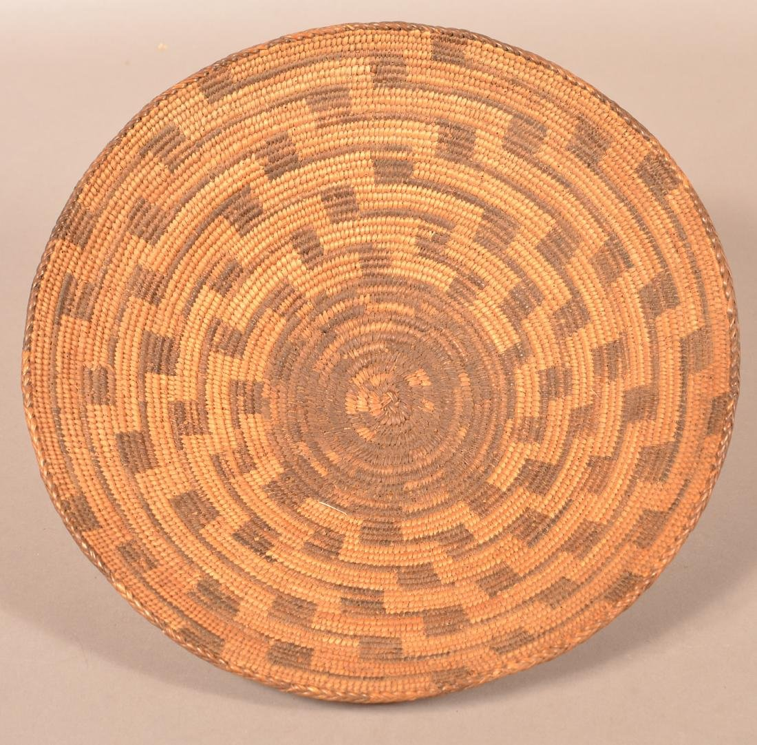 "Antique S.W Indian Coiled Basket 14"" Dia."