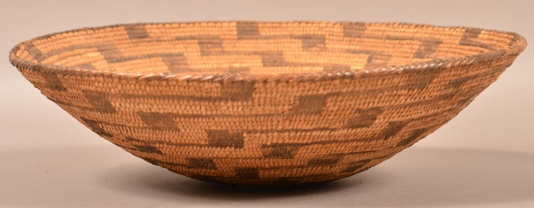 "Antique S.W Indian Coiled Basket 14"" Dia. - 2"