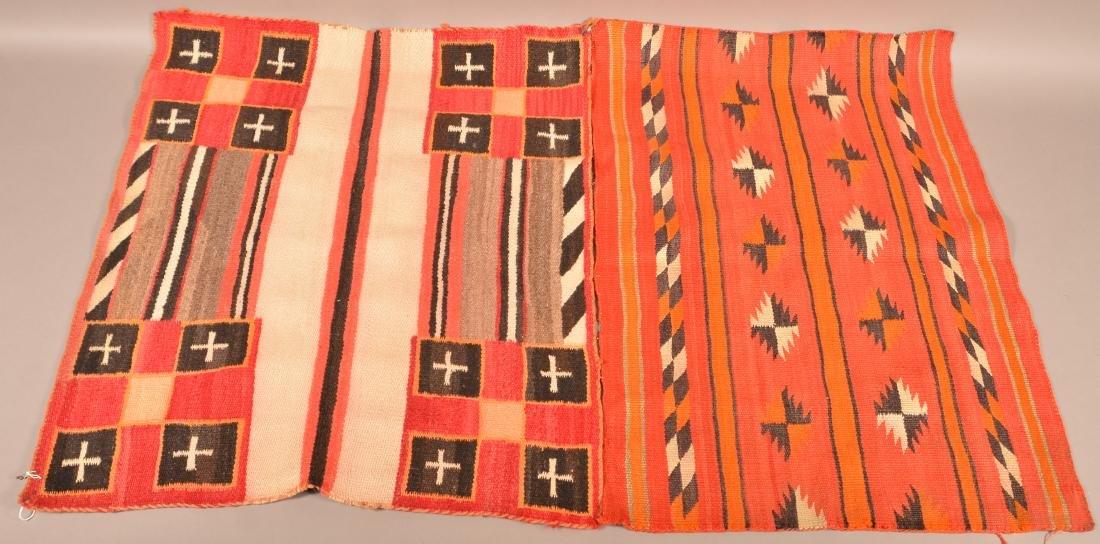 "2 Vintage Navaho Textiles 34"" x 24"", Light Soiling"
