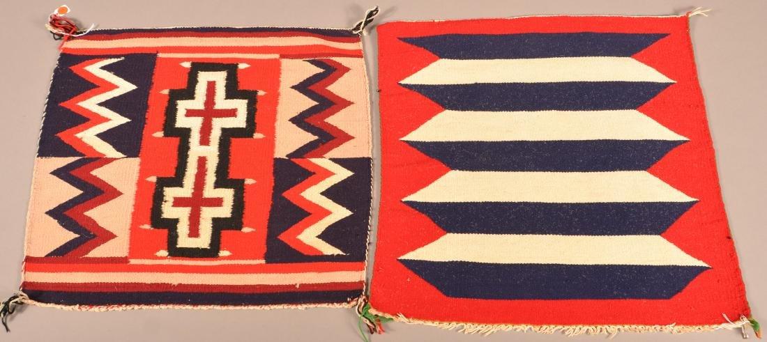 "2 Navaho Textiles of ""Germantown"" Yarn 22"" x 20"", 22"" x"