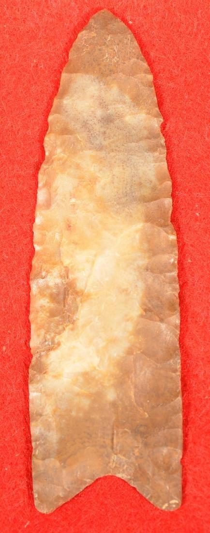 Scarce Prehistoric PA Jasper Paleoindian Fluted Point 3 - 2