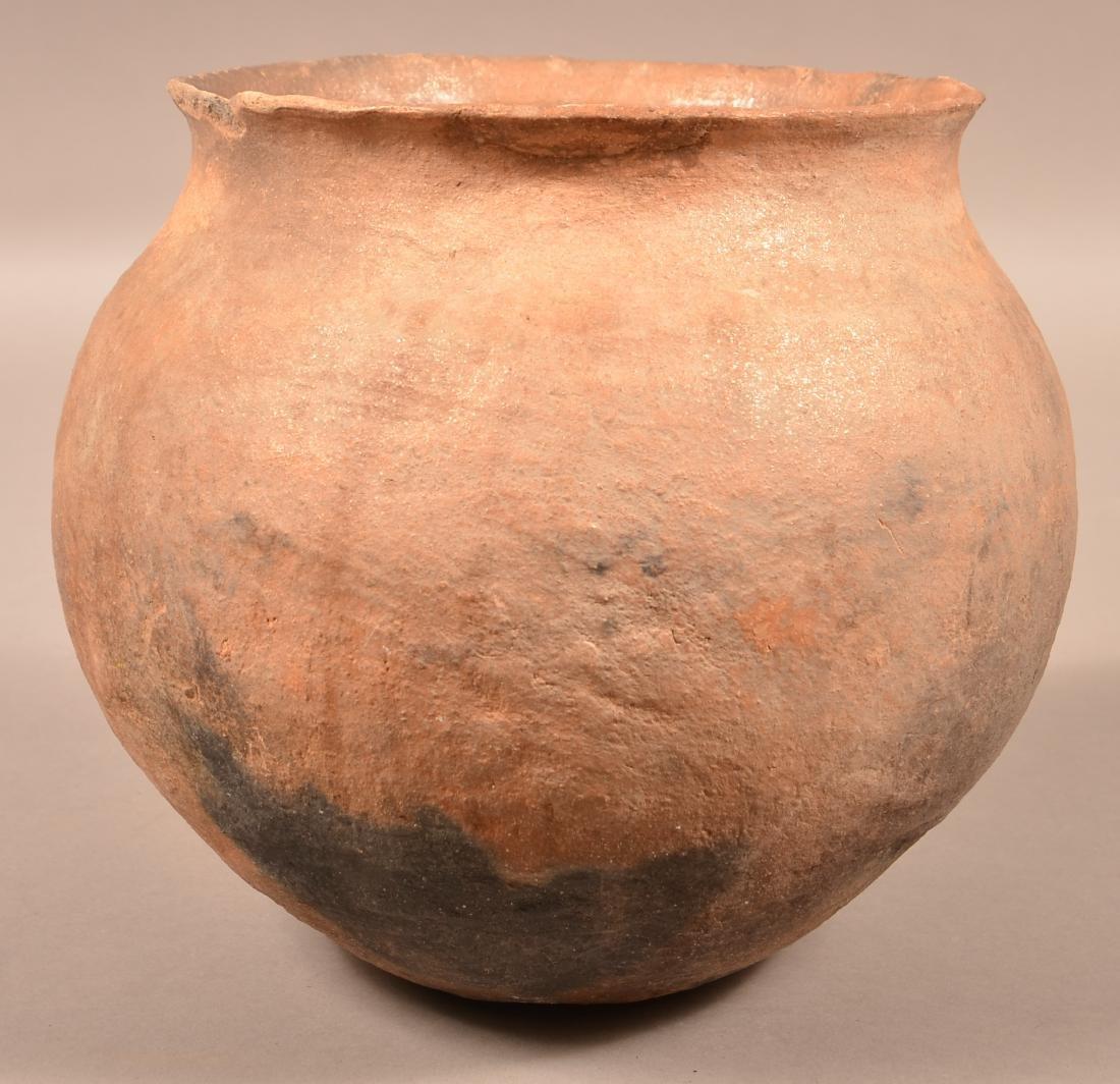 "Antique Pueblo Pottery Olla of Mica Infused Clay 9 1/2"""