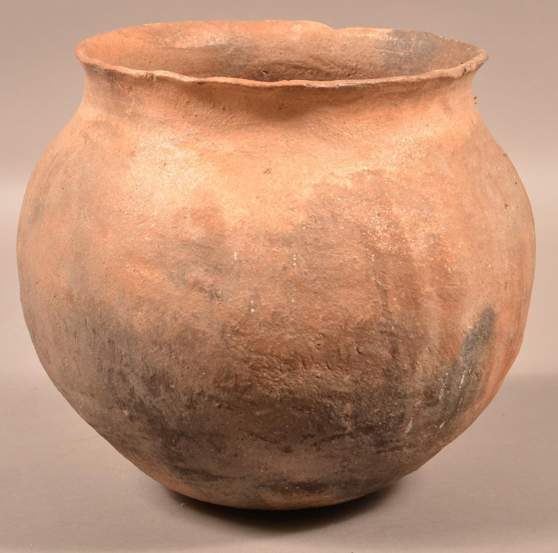 "Antique Pueblo Pottery Olla of Mica Infused Clay 9 1/2"" - 2"