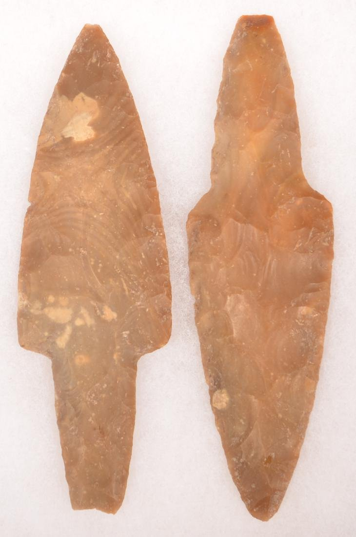 "2 Ancient Mexican Stemmed Points 6 1/4"", 1 5/8"", 6 1/4"" - 2"