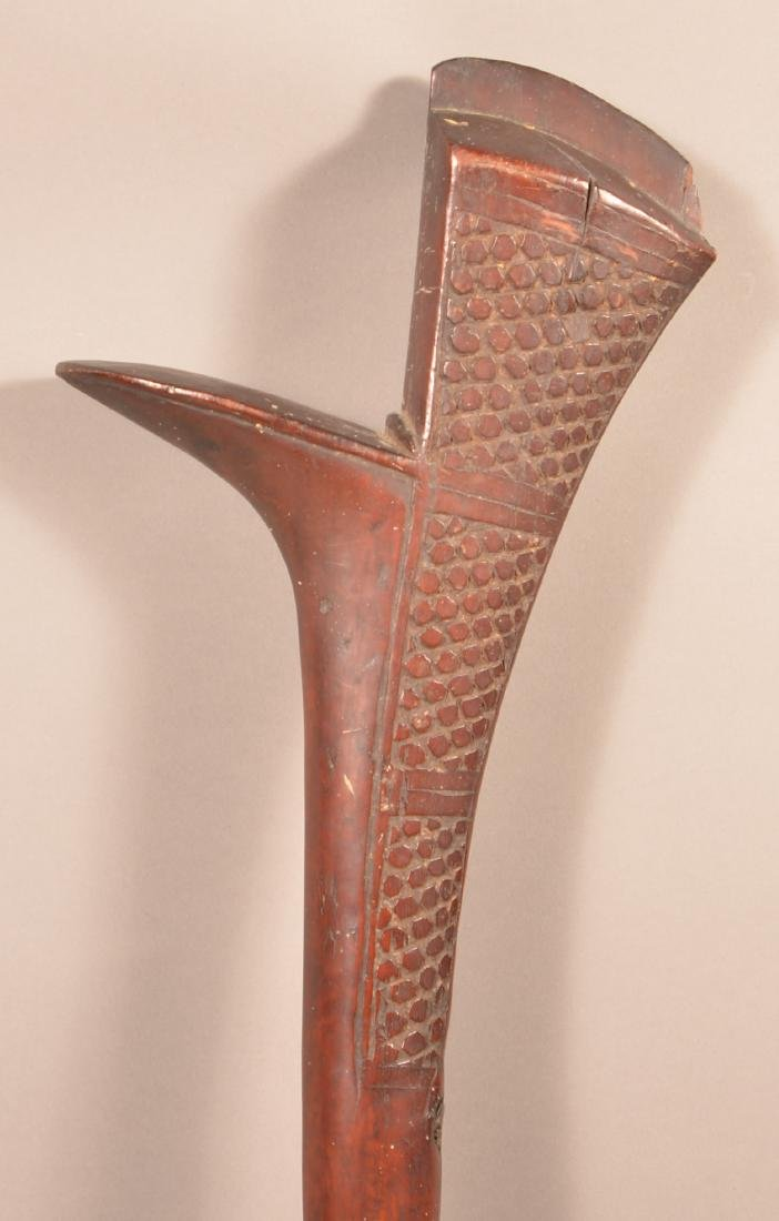 Antique Pacific Island Carved Wood War Club Minor - 3