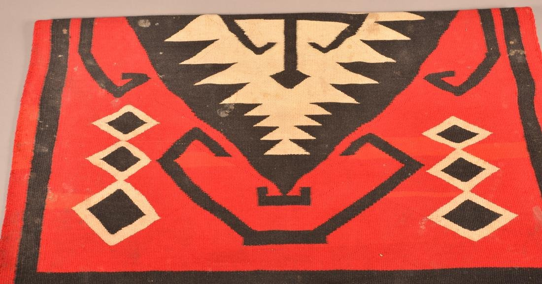 "Antique Navaho Rug 72"" x 48"", Edge Worn and in need of - 2"