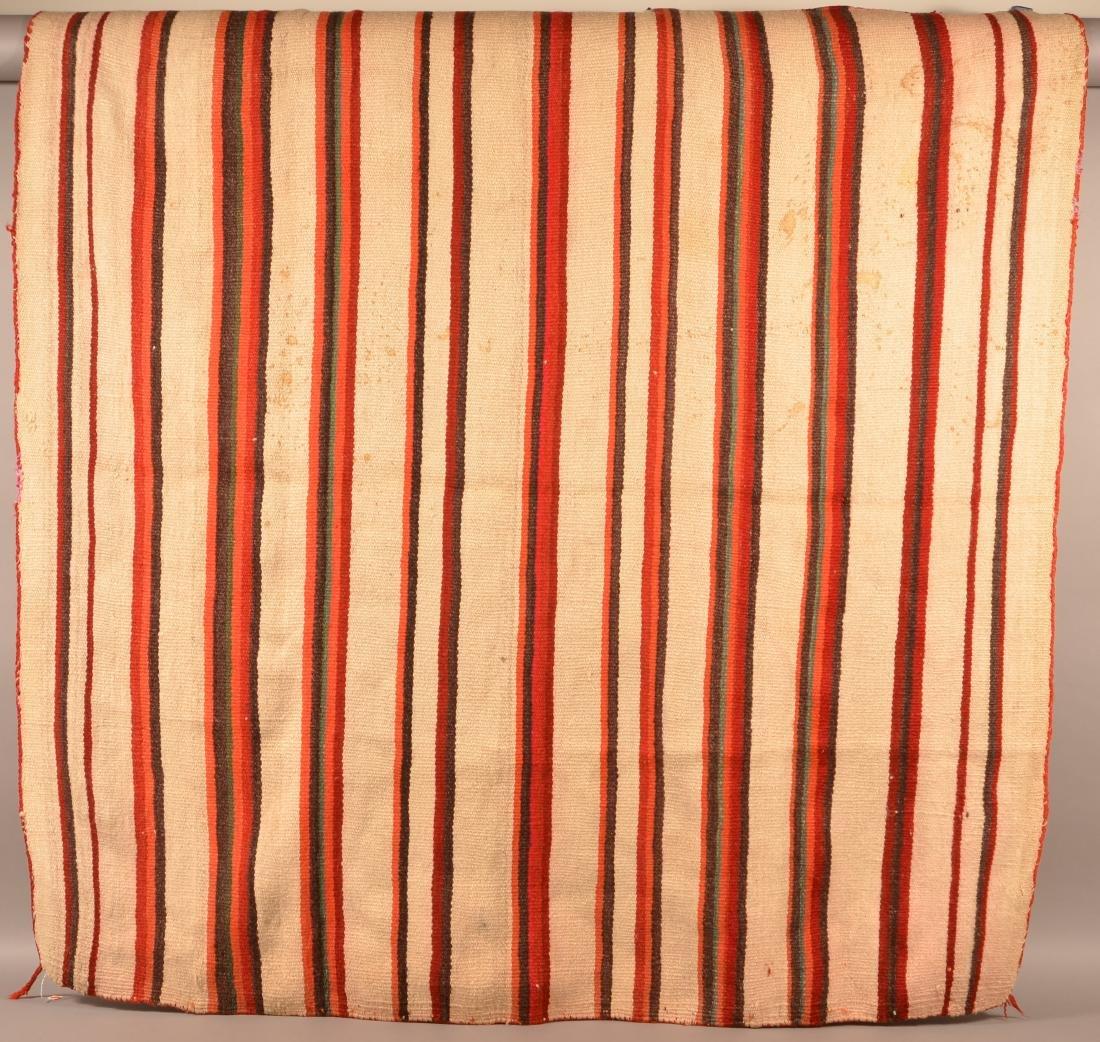 """Navaho Textile, Transtional Era 70"""" x 68"""" Soiled w/"""