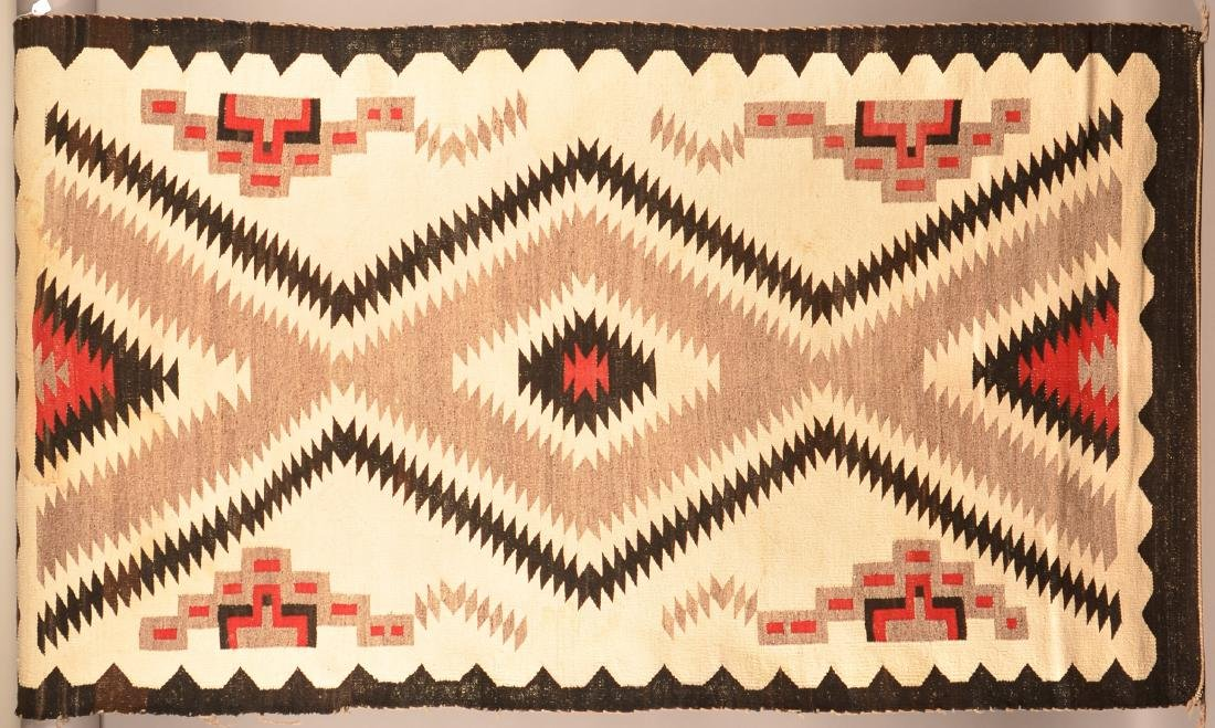 """Vintage Navaho Regional Rug 72"""" x 39"""" Soiling and some"""
