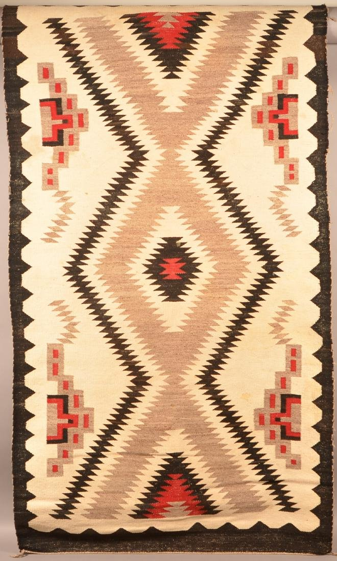"""Vintage Navaho Regional Rug 72"""" x 39"""" Soiling and some - 2"""