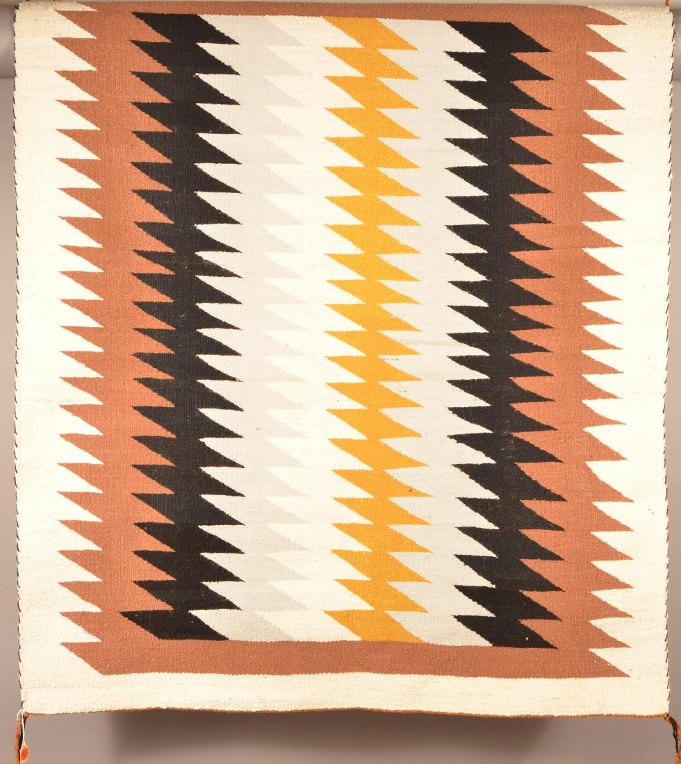 "1950's Era Navaho Rug 49"" x 40"" Woven by Grace Begay"