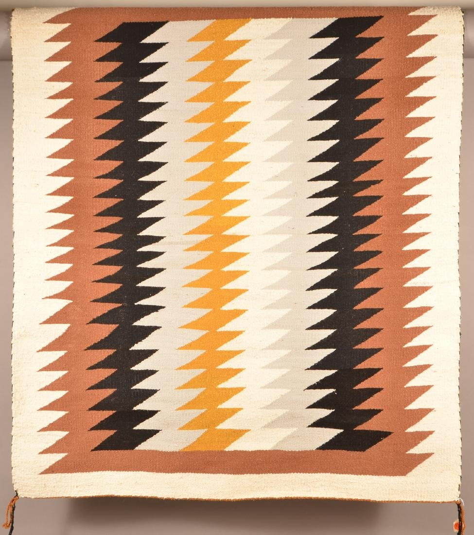 "1950's Era Navaho Rug 49"" x 40"" Woven by Grace Begay - 2"