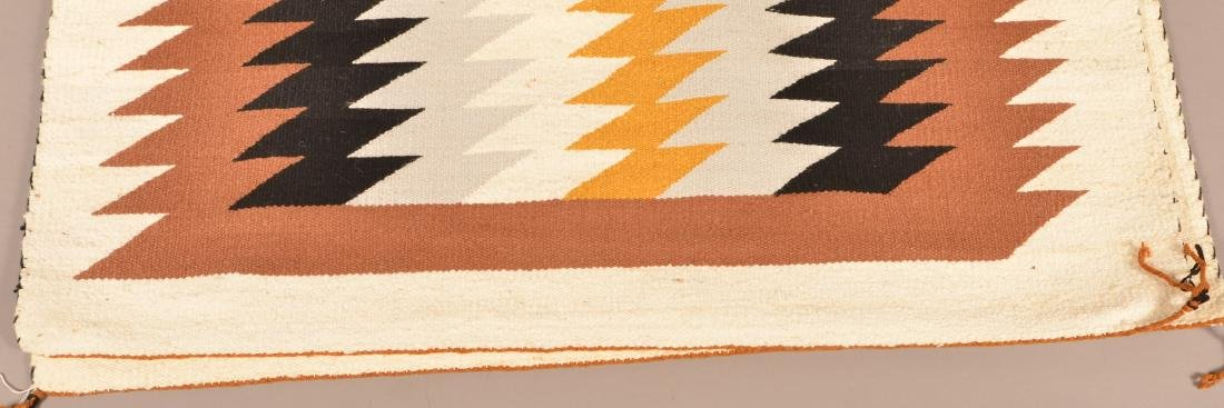 "1950's Era Navaho Rug 49"" x 40"" Woven by Grace Begay - 3"