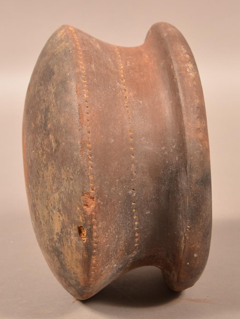 """Precolumbian, Meso American Pottery Vessel 5 1/2"""" x 9"""" - 3"""