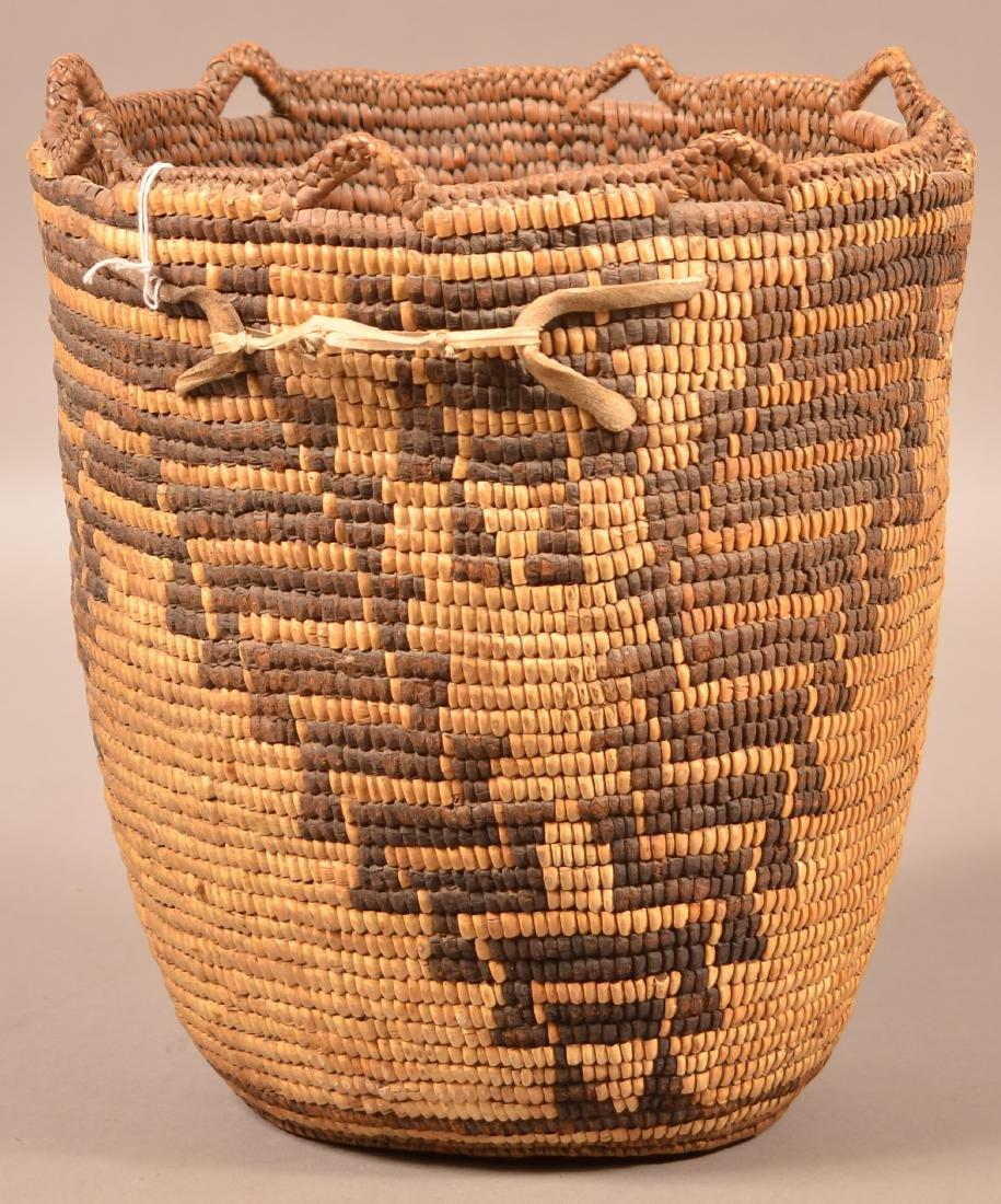 Antique Klikitat Indian Basekt, Coiled w/ Imbricated - 2