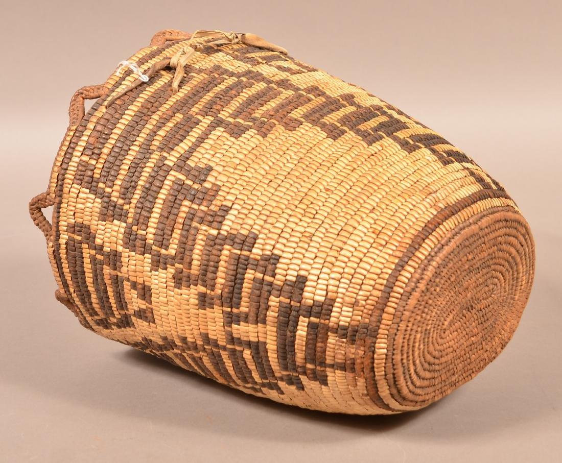 Antique Klikitat Indian Basekt, Coiled w/ Imbricated - 3