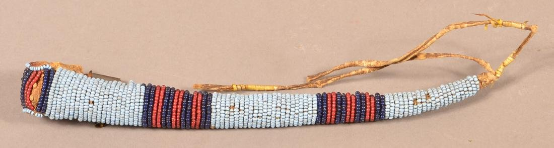 Antique Plains Indian Beaded and Tin Cone Embellished, - 2