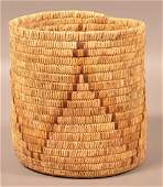 """Vintage Papago Indian Coiled Basket 9 1/2"""" x 8 3/4"""""""