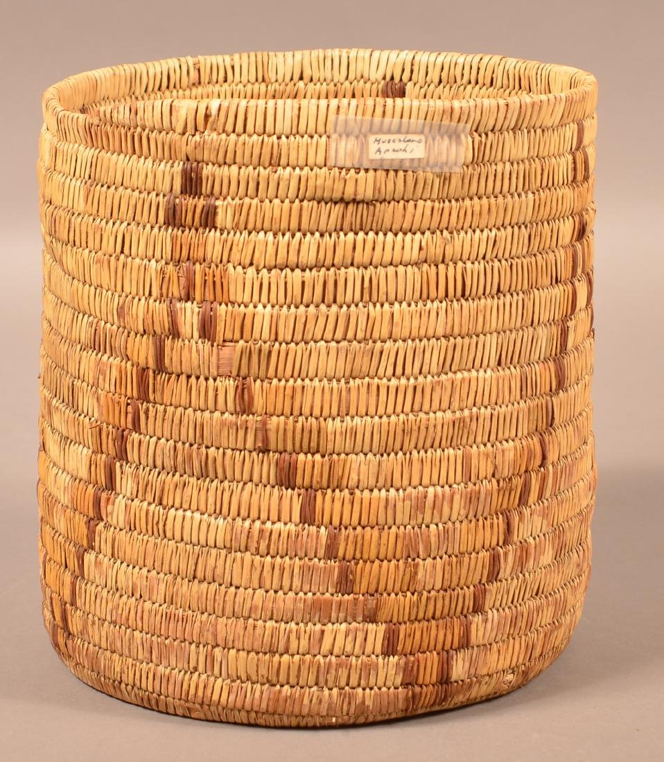 "Vintage Papago Indian Coiled Basket 9 1/2"" x 8 3/4"" - 2"