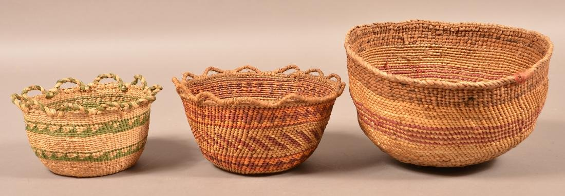 Group of 3 Antique Columbia River Region Baskets 5