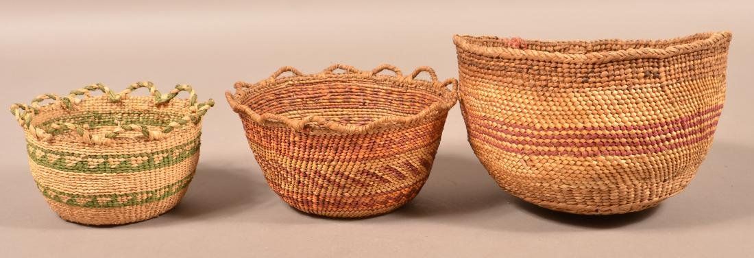 Group of 3 Antique Columbia River Region Baskets 5 - 2