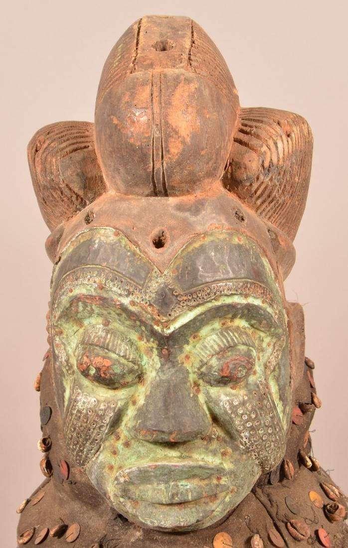 Antique/Vintage African Carved Wood Tribal Mask. - 2
