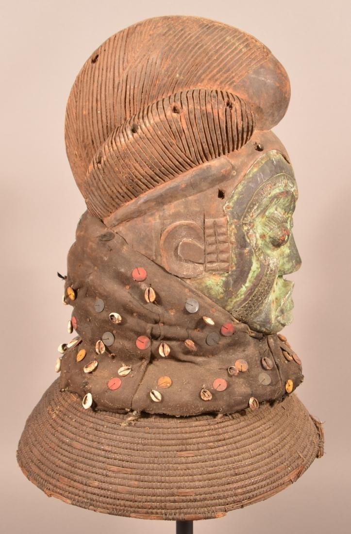 Antique/Vintage African Carved Wood Tribal Mask. - 3