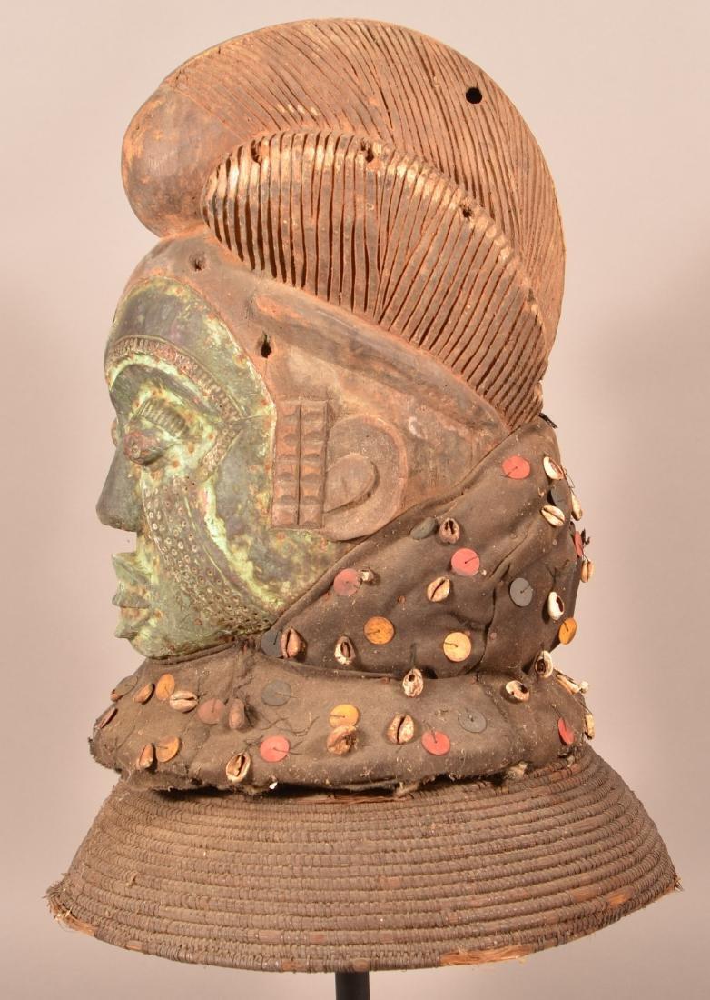 Antique/Vintage African Carved Wood Tribal Mask. - 5