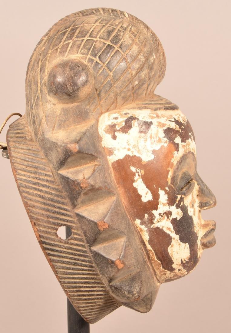 Two Antique/Vintage African Carved Wood Tribal Masks. - 3