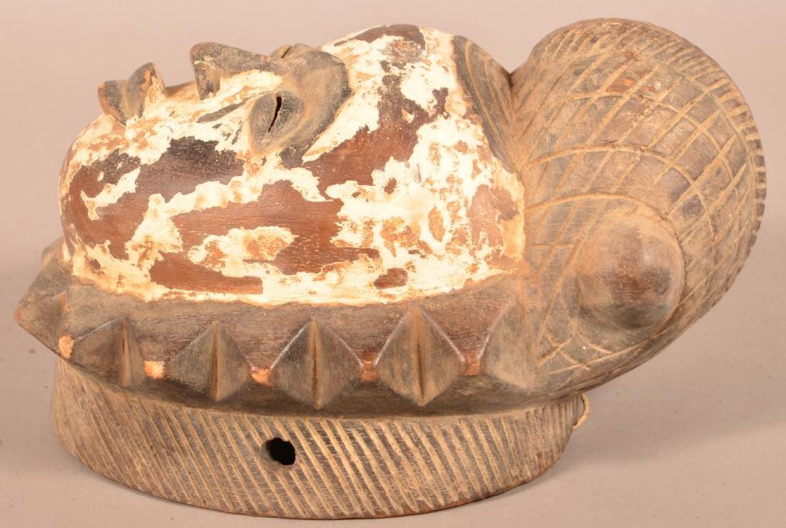 Two Antique/Vintage African Carved Wood Tribal Masks. - 4